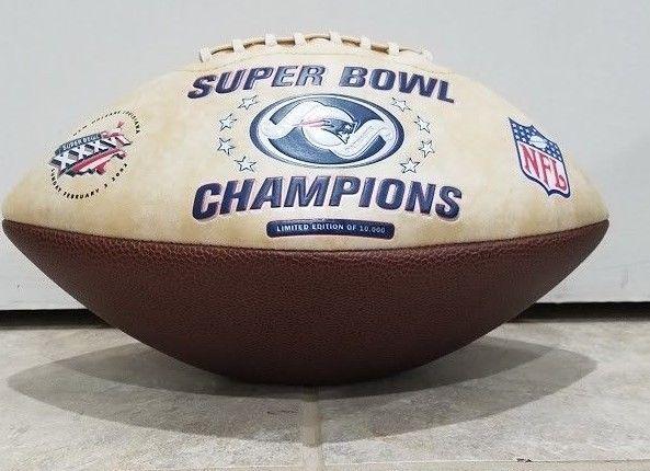 New England Patriots Super Bowl Xxxvi Champions Football Limited Edition Vintage Newenglandpatriots Super Bowl Xxxvi Football College Football Teams