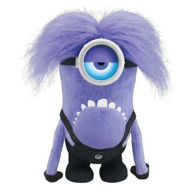 Плюшевая игрушка Гадкий Я 2 – Говорящий фиолетовый миньон, Despicable Me 2 - 12 inch Talking/Light Up Purple Minion Thinkway Toys