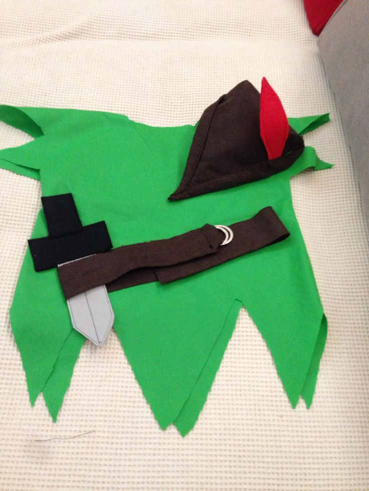 how to make a peter pan hat without sewing