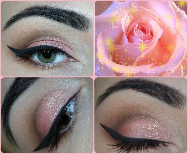 Всем девушкам привет! Решила показать макияж глаз по простой, но интересной схеме, что в ней примечательно — можно делать макияж глаз в какой угодно цветовой гамме — как подскажет фантазия и настроение,  Я решила выбрать розово-золотистый акцент)   Для макияжа глаз я использовала следующее 1. Палетка Zoeva Naturally Yours 2. Основа для теней