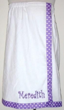 Cute monogrammed summer towel wrap $34