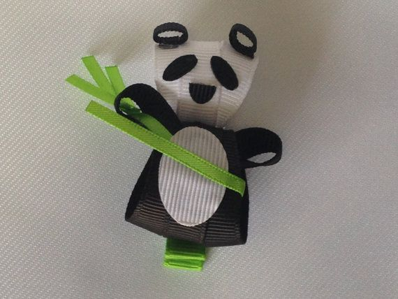 Panda Hair Clip by ArgenCrafts on Etsy