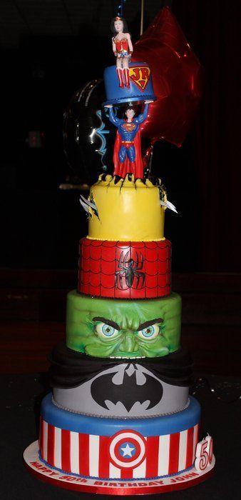 Super Hero Cake - by Paul Delaney @ CakesDecor.com - cake decorating website