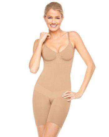 A spanx bodysuit, size S, to wear under superhero spandex costumes!