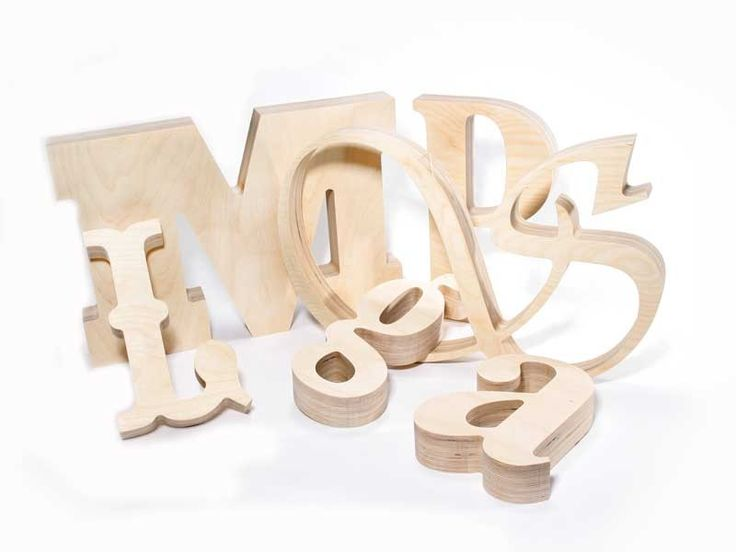 I finally found where to buy really big wooden letters. And, you can choose the font!