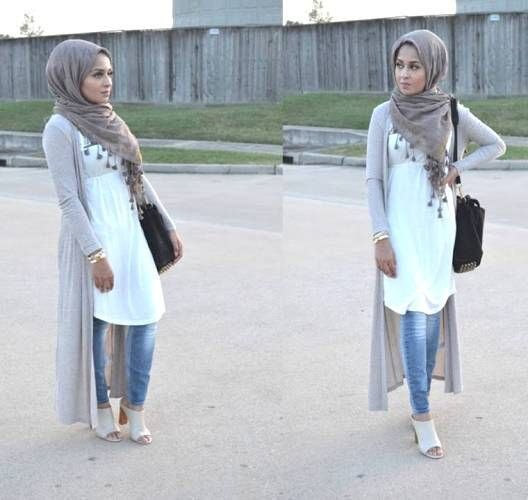 long cardigan neutral color