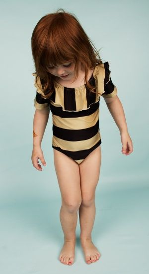 Mini Rodini SS14 Mini Zoologist Striped Swimsuit