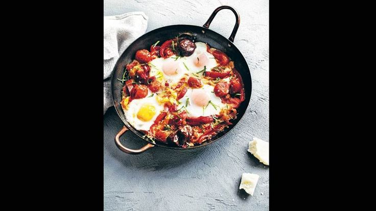 Baked Eggs with Capsicum and Tomatoes