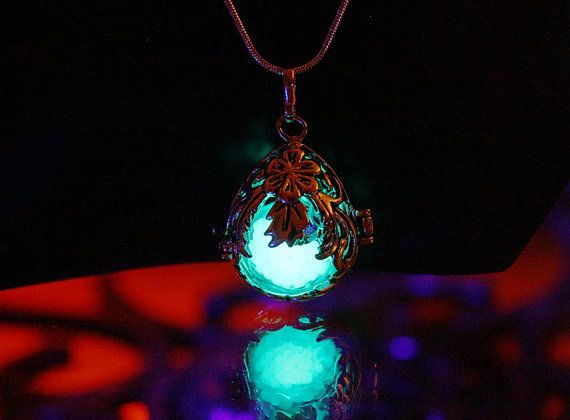 3 pendants in one  Locket  GLOW in the DARK by Papillon9 on Etsy, $55.95