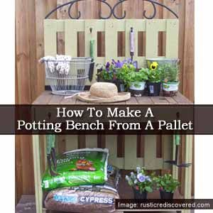 How To Make A Potting Bench From A Pallet Garden And Yard Pinterest Potting Benches