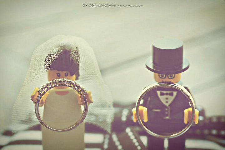 Lego wedding cake topper
