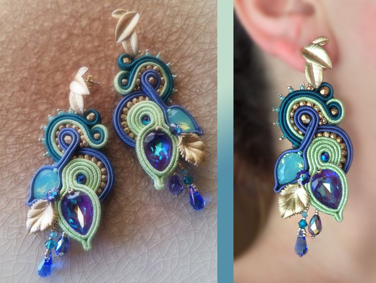 EARRINGS Design by Serena Di Mercione --- soutache - swarovski