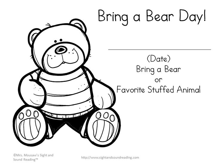 63 Best Bears Kindergarten Images On Pinterest