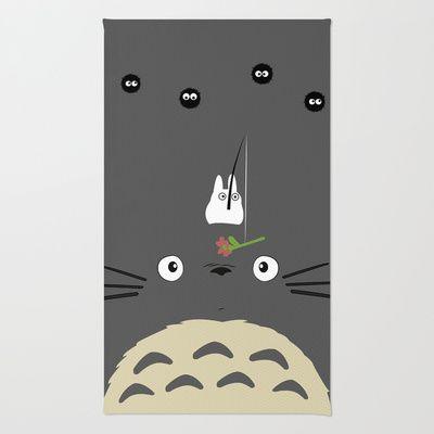 Cute Totoro Area & Throw Rug