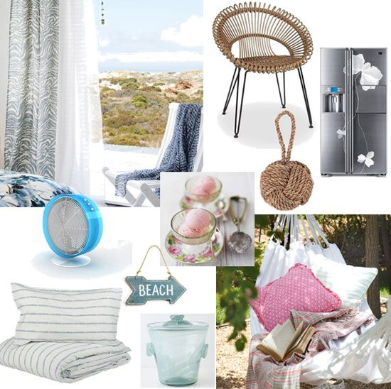 Country Living Blog gives more ideas for coastal themed living. We love the #retro beach sign.