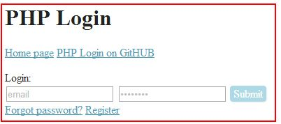 PHP Login by Michael Zelensky is a small PHP proto-application for user authorization on a website. You can use it as a starting point for creating your website. Features: Email as login name User registration Password reminder Email confirmation Easy installation by running install.php script Powered by PHP mysql class jQuery for the front end AJAX-based login/logout operations AJAX-based on-the-fly email availability check Front-end JS-based form data accuracy check.