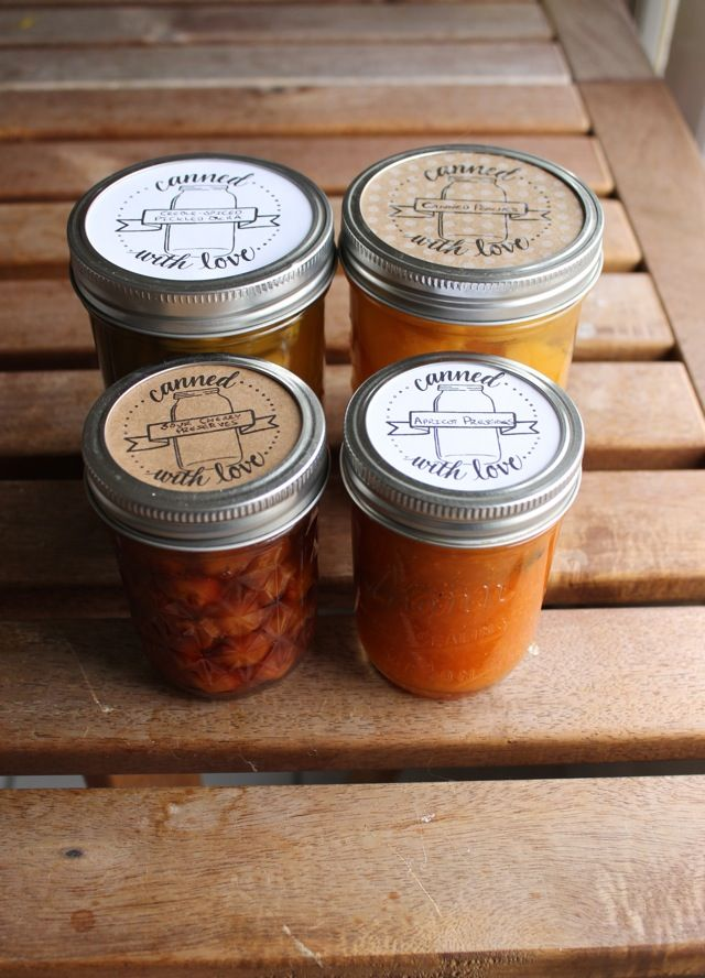 Ladyface Blog: Printable Canning Jar Labels