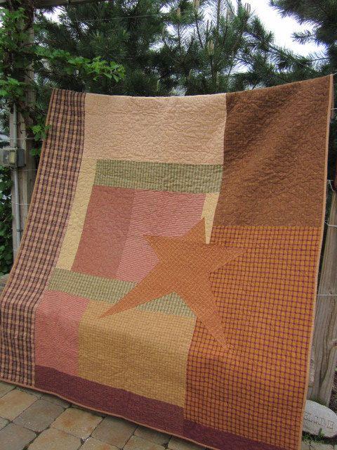 beautiful primitive quilt