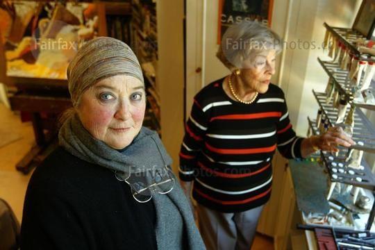 Australian artists Margaret Woodward, with Judy Cassab