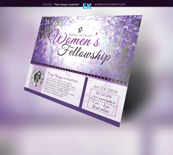 women u0026 39 s fellowship flyer template by epickita on
