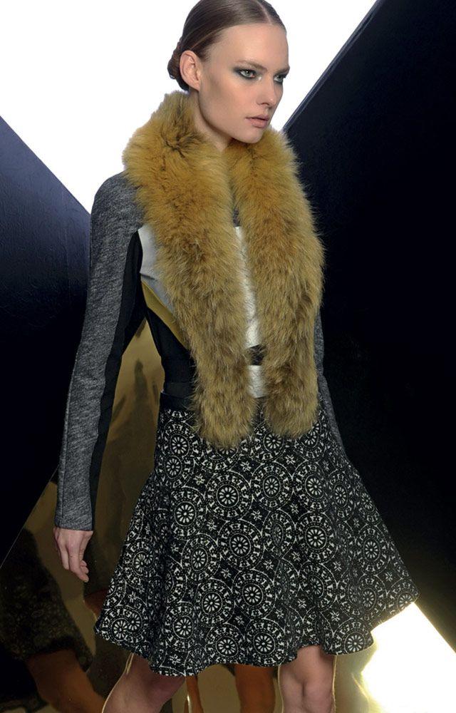 Look 07 _ 600 Sweater . 711 Skirt . 268 Fur Neck