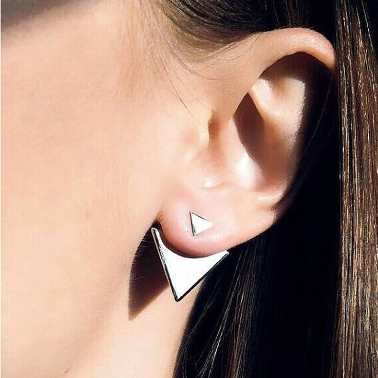 Find More Stud Earrings Information about New Women Double Side Earrings Punk Geometric Gold Plated Stud Earrings for Women Fashion Jewelry Top Quality Brincos,High Quality earring discs,China earring sale Suppliers, Cheap earrings nails from SEC International's store on Aliexpress.com