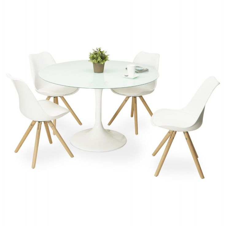 25 best ideas about table ronde en verre on pinterest for Table ronde en verre avec 4 chaises
