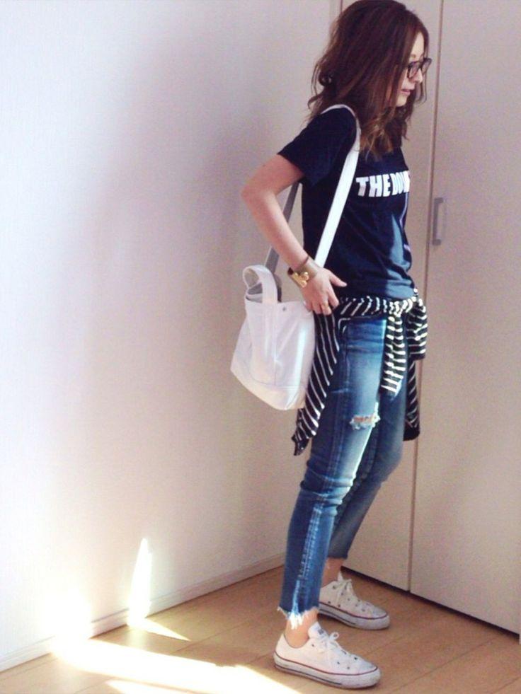 mayumiさんのTシャツ/カットソー「Deuxieme Classe UPPER HIGHTS DOVERS Tシャツ◆」を使ったコーディネート