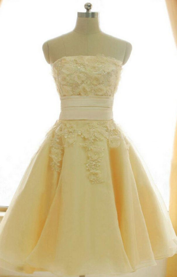 Sexy Lace Prom Dresses, Strapless For Prom,