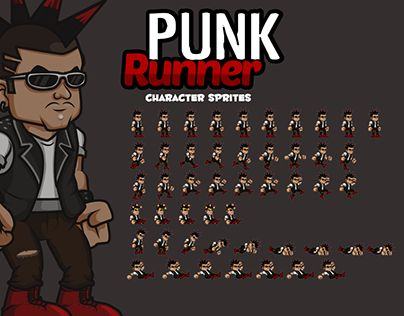 "Check out new work on my @Behance portfolio: ""Punk Character Sprites"" http://be.net/gallery/44608079/Punk-Character-Sprites"