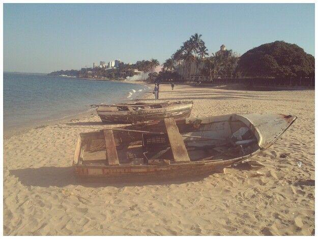 Maputo - local fishermens' boats