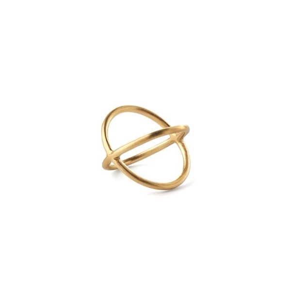 Pernille Corydon Ring, Crossed, Guld