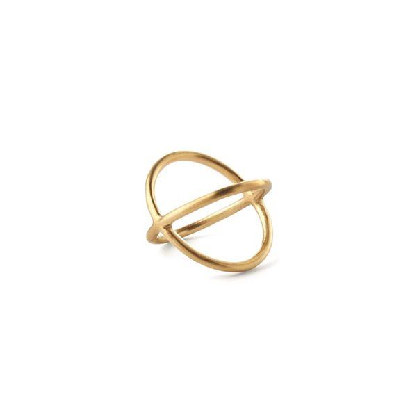Pernille Corydon Ring, Crossed, Guld