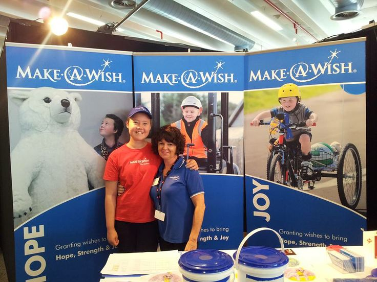 Chantal meets Chantal! Chantal, aged 13 wished to get close to a polar bear. We put her image on one of our banners at the IRONMAN 70.3 Auckland expo as Make-A-Wish is the Official Charity - and Chantal came to hand out some finisher medals