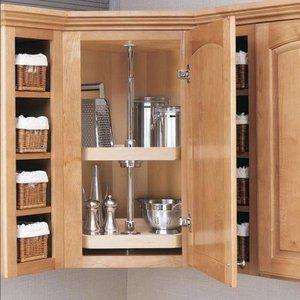 revashelf wood d shaped 2 shelf lazy susan