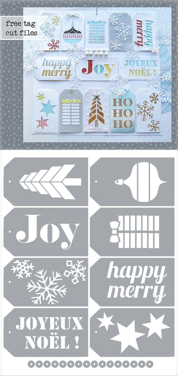 Christmas Tags - free Silhouette .studio & .SVG cutting files