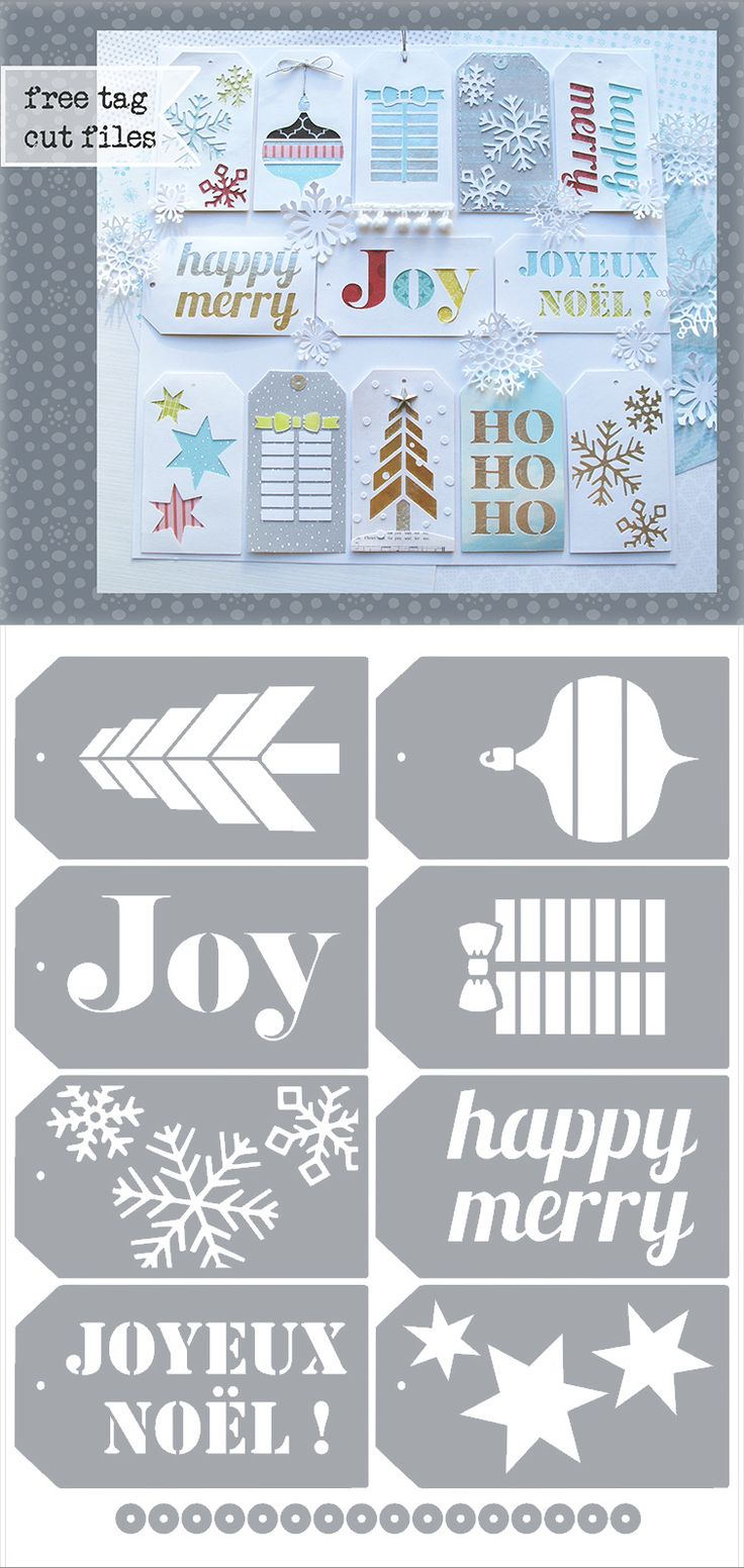Christmas Tags - free Silhouette .studio & .SVG cutting files: