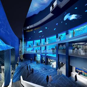 National aquarium of saudi arabia interior rendering for Aquarium interior designs pictures