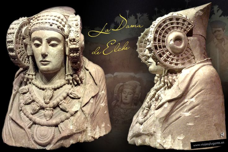 La Dama de Elche, símbolo de la cultura ibérica • Museo Arqueológico Nacional, MAN Madrid.