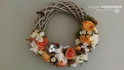 Project Gallias: Wianek na rocznice #projectgallias, Floral Wreath, Door decoration wreath