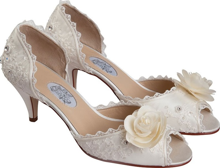 """Fairytale by Diane Hassall  2"""" heel. Lace covered shoe with tiny rhinestones. Sizes 6.5-10."""