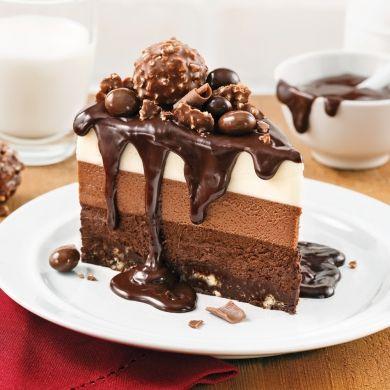 Gâteau-mousse aux trois chocolats - Recettes - Cuisine et nutrition - Pratico Pratique