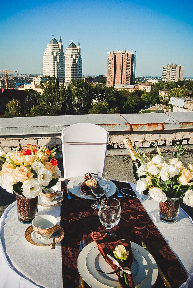 Романтчиеский ужин в кофейном стиле