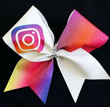 Cheer Bow - Instagram Social Media  - Glitter - Hair Bows