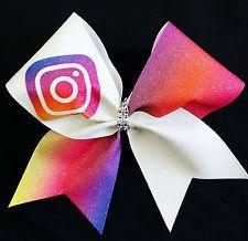 Cheer Bow - Instagram Social Media  - Glitter - Hair Bows