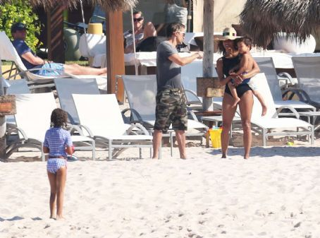 Halle Berry In Black Swimsuit In Mexico