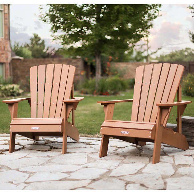 Lifetime Adirondack Chair 2 Pack Outdoor Garden Furniture