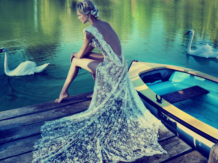 Silk lace by the lake... by @Celia Kritharioti