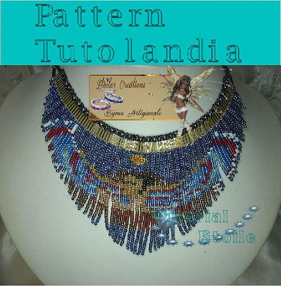 Pattern goddess Iside Necklace by Tutolandia on Etsy