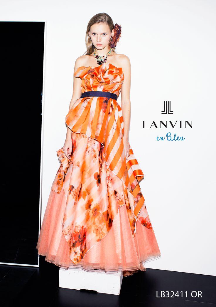 アクア・グラツィエがセレクトした、LANVIN EN BLEU(ランバン オン ブルー)のウェディングドレス、LB32411をご紹介いたします。